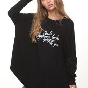 طباعة قميص أسود Vivi