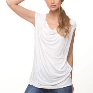 חולצה רבידה לבנה