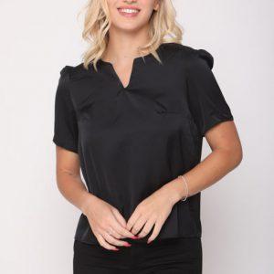 قميص أسود ساتان نيكي