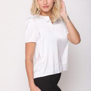 חולצה ניקי סאטן לבן