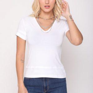 قميص سولي الأبيض