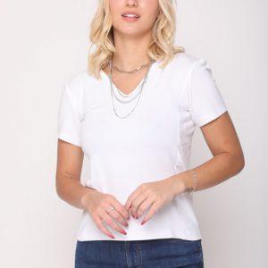 قميص أبيض أمامي