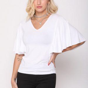 قميص ليندا الأبيض