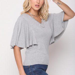 قميص ليندا رمادي