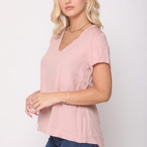 قميص قطيفة وردي