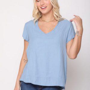 قميص أزرق فاتح أرجواني