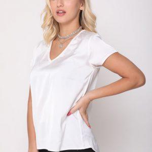 חולצה אלומה לבנה