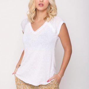 قميص أبيض الشرج