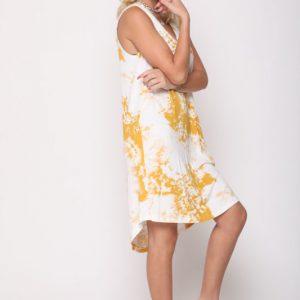 שמלה אירית טאי דאי חרדל