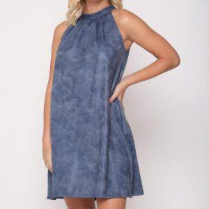 שמלה לני דמוי עור גינס